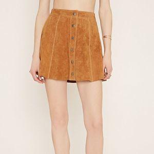 NWT Azbro Suede Like Tan Skirt